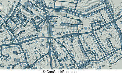 Housing map - Editable vector illustrated map of housing in...