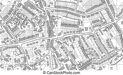 Housing map - Illustrated map of housing in a generic town