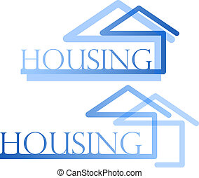 Housing symbol - design for real estate business, housing