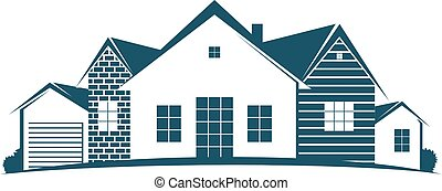 Housing symbol for business - Housing construction and sale...