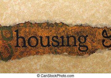 Housing torn paper concept