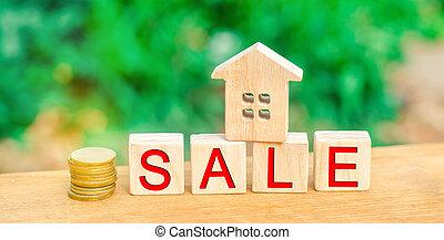 """housing., vrai, bois, estate., vente, maison, """"sale""""., inscription, maison, propriété, affordable"""
