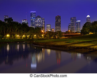 houston égvonal, napnyugta, texas, bennünket