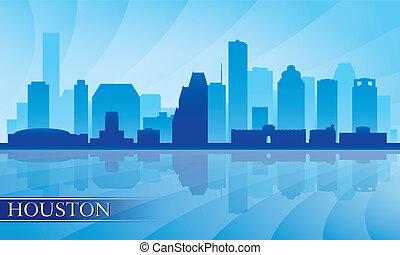 houston γραμμή ορίζοντα , περίγραμμα , φόντο , πόλη