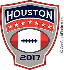 Houston 2017 American Football Big Game Crest Retro