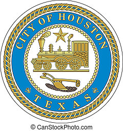 Houston city seal - Various vector flags, state symbols,...