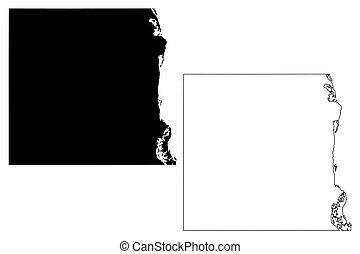 Houston County,  Minnesota (U.S. county, United States of America, USA, U.S., US) map vector illustration, scribble sketch Houston map