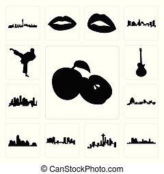 houston, komplet, ikony, jabłko, , paweł, karate, tło, sylwetka na tle nieba, les, wartość, kopnąć, missouri, biały, sylwetka na tle nieba, austin, wizerunek, seattle, fort