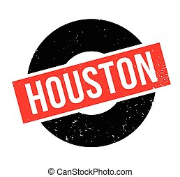 Houston rubber stamp. Grunge design with dust scratches....