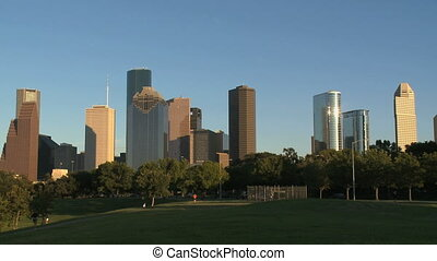 Houston Skyline in late afternoon - medium shot