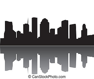 houston skyline mirrot