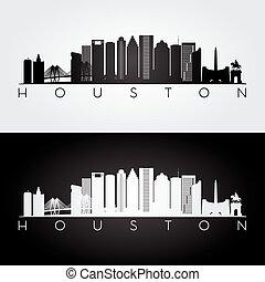 Houston skyline silhouette