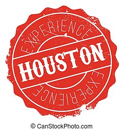 Houston stamp rubber grunge - Houston stamp. Grunge design...