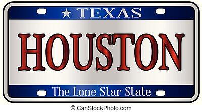 Houston Texas License Plate - Houston Texas state license...