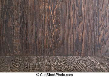 hout, achtergrond, tafel, met, houten muur