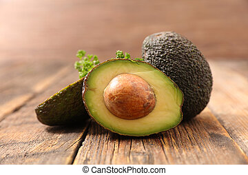 hout, avocado, achtergrond