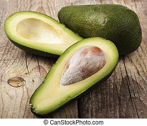 hout, avocado
