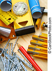 hout, bouwsector, gereedschap