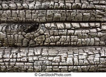 hout, charry, oppervlakte
