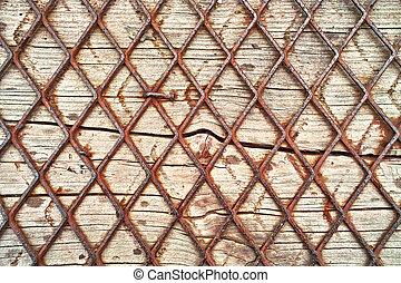 hout, en, draad, achtergrond