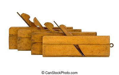 hout, gevarieerd, planer