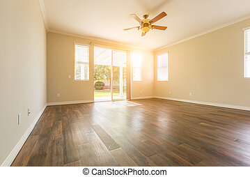 hout, kamer, woning, hard, vloeren, nieuw, lege