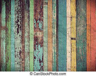hout, materiaal, achtergrond, voor, ouderwetse , behang