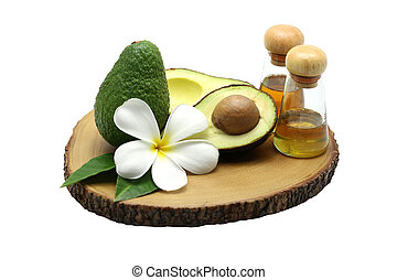 hout, olie, avocado, achtergrond