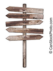 hout, oud, vrijstaand, verweerd, meldingsbord