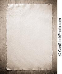hout, papier, oud, perkament