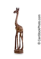 hout speelgoed, giraffe, vrijstaand