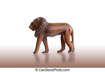 hout speelgoed, leeuw, vrijstaand