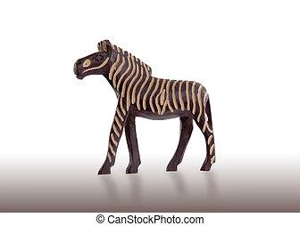 hout speelgoed, zebra, vrijstaand