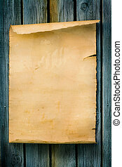 hout, stijl, oud, meldingsbord, papier, westelijk, kunst