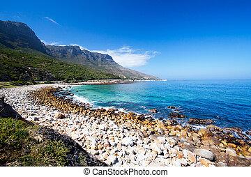 hout, strand, afrika, schiereiland, baai, kaap, zuiden