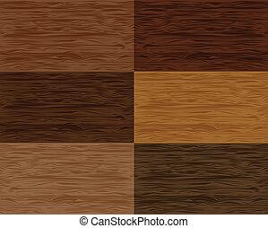 hout, vector, set, seamless, patterns.