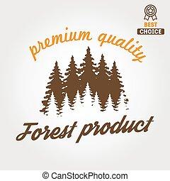 houtbewerkers, etiket, houtzagerij, badge, logo,...