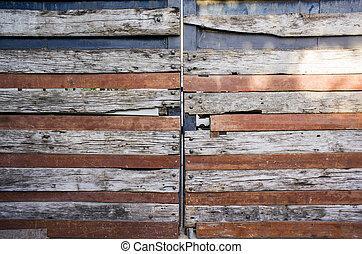 houten, abstract, deur, achtergrond