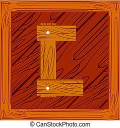 houten, alfabet, c, belemmeer brief
