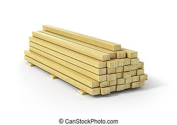 houten, balken, planks., bouwsector, material.