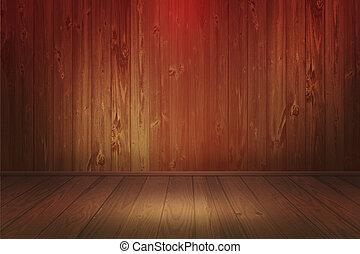 houten, beeld, schijnwerper, kamer