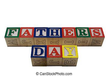 houten blokken, vaders dag