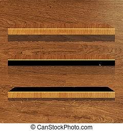 houten, boekenplank