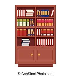 houten, boekjes , bibliotheek