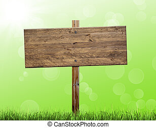 houten, buitenreclame