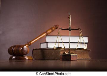 houten bureau, in, een, wet firma