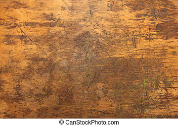 houten bureau, textuur, dichtbegroeid boven