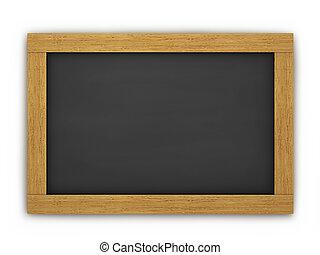 houten, chalkboard, lege