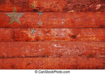 houten, china., meldingsbord