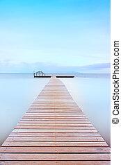 houten, coast., tuscan, koude, pijler, atmosphere.